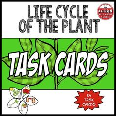 Life Cycle of the Plant Task Cards - ★ 24 task cards with questions ★ Editable task card template - customize and make your own task cards (updated June 2015 to make them editable with powerpoint) ★ Student Record Sheet ★ Teacher Answer Sheet ★ Ideas for Use  Topics covered include:  ☆ Structure and function of the flower ☆ Stamen, Carpel ☆ Pollination - Animal, Wind ☆ Seed Dispersal ☆ Germination