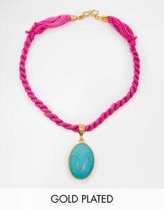 Ottoman Hands Festival Stone On Twist Necklace