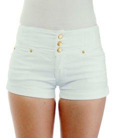 Silver Diva Stretch Push-Up (Levanta Cola) Junior Short Shorts ...