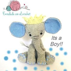 In this article I will share a wonderful amigurumi pattern again. You can enjoy this beautiful amigurumi elephant free english pattern.  Materials  Yarn Pekhorka children's novelty,  1 skein of the main color, half  skein of a different color  Hook 1.5-1.75 Main Colors, Different Colors, Elephant Pattern, Amigurumi Patterns, Free Pattern, Teddy Bear, English, Live, Children