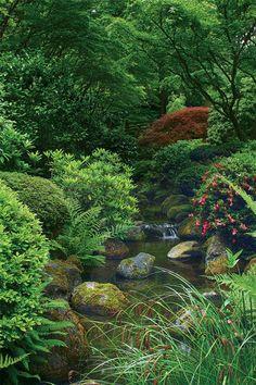 Elements of a Japanese Garden - FineGardening Japanese Garden Backyard, Japanese Garden Landscape, Japanese Gardens, Zen Garden Design, Japanese Garden Design, Agriculture, Farming, Château Fort, Garden Inspiration