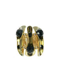 Pure Glam Ring - Black $29.95 #leethal #accessories #fashion