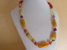 Collana agata gialla collana agata arancione di Myspecialgift