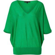 RALPH LAUREN BLACK Meadow Green Cashmere-Silk Dolman Sleeve Pullover found on Polyvore