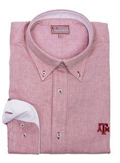 Men's Texas A&M University Oxford Shirt by Pennington & Bailes.  Buy it @ ReadyGolf.com