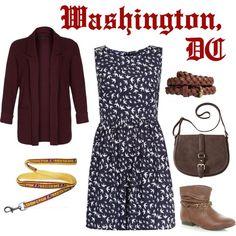 washington dc style for fall...minus that stupid lanyard...
