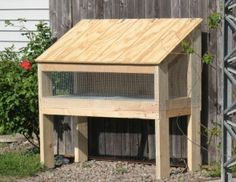 """Rabbit hutch - a few pics to show construction- sturdy.   would be easy to add a small """"house"""" to this"""