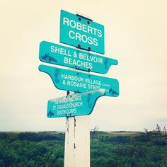 Signpost on Herm, Channel Islands