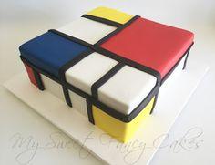 Mondrian Cake - La Receta de la Felicidad | Comida y bebida | Pinterest |  Mondrian and Cake
