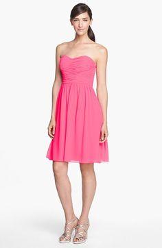 Donna Morgan &-39-Morgan&-39- Strapless Silk Chiffon Dress (Regular &amp- Plus ...