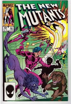 The New Mutants #16 June 1984 Marvel Comic Book First Appearance Warpath 1st