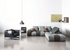 Divano modulare imbottito NEW PIXEL by Saba Italia   design Sergio Bicego