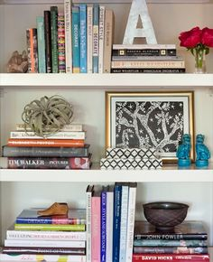 Bookcase styling- always good to have ideas for this