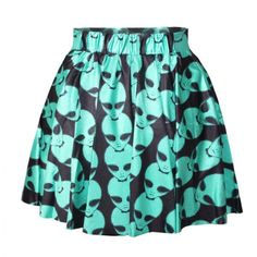 Womens Printed Galaxy Cartoon Adventure Time BMO Ball Skater Skirt Mini Dress in Clothing, Shoes, Accessories, Women's Clothing, Dresses Blue Pleated Skirt, Mini Skirt Dress, Sexy Skirt, Skater Skirt, Patterned Skirt, Visual Kei, Cartoon Adventure Time, Aliens, A Line Skirts
