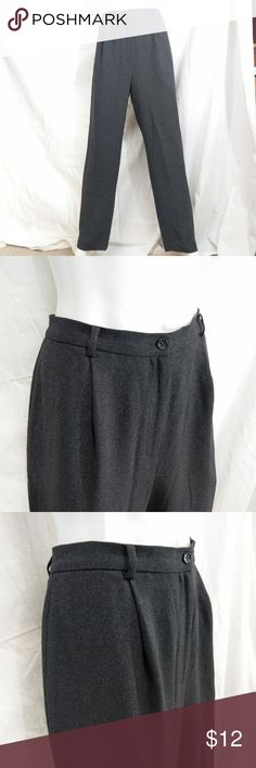 """Alfani Grey Charcoal/White Specked Dress Pants Alfani lined, single-pleated pants have zip-fly, double-button closure & 2 side pockets. 100% polyester, lining: 100% acetate. Buttons are attached but loose (easy fix, but I'm hopeless at it). Grey here is a combination of charcoal color w/ fine white specks. Please consult pictures & measurements for more/better description. Mannequin's wrong size, but gives general idea. (Area 3) Approx. measurements: Waist 30"""" Inseam 31"""" Outseam 43"""" Leg…"""