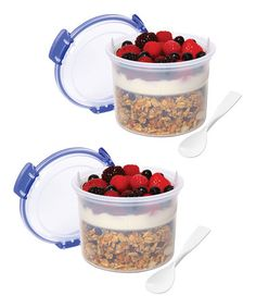 Take a look at this Blue Breakfast-to-Go Container - Set of Two by Sistema on #zulily today!