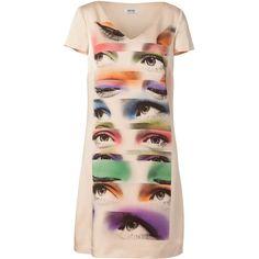 MOSCHINO C Nude Photo Print Dress via Polyvore