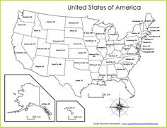 Super Teacher Worksheets Now Has Printable Maps For All States - United states map with state names and abbreviations