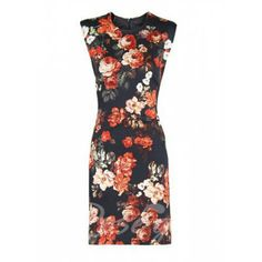 Charming Round Collar Floral Print Sleeveless Bodycon Cheongsam For Women