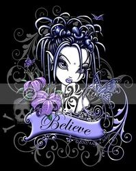 Gothic Believe Fairy Art Signed Print Tattoo Flower Fae Sophia Lilly Myka Jelina Gothic Fantasy Art, Gothic Fairy, Dark Fantasy, Faerie Tattoo, Fairies Photos, Fairy Tattoo Designs, Wolf, Gothic Tattoo, Fairy Pictures