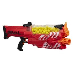 Nerf Rival guns are essential for any fans of ultimate Nerf battles. Keep reading for 25 revolutionary Nerf Rival guns, and accessories, for serious Nerf wars. Arma Nerf, Pistola Nerf, Cool Nerf Guns, Nerf Toys, Nerf War, Outdoor Toys, Outdoor Play, Kids Store, Toys