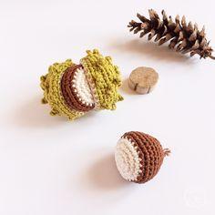 Tutoriel Marron au Crochet - Tutoriel Crochet d'Automne / Crochet Chestnut Tutoriel - Fall and Autumn Crochet Tutorial Diy Crochet Amigurumi, Art Au Crochet, Blog Crochet, Crochet Diy, Crochet Motifs, Crochet Fall, Crochet Home, Crochet For Kids, Crochet Crafts
