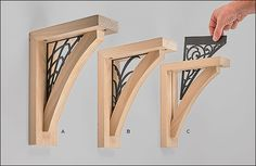 Wooden Shelf Brackets - Hardware