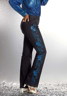 Embroidered Jeans by #Denim24/7