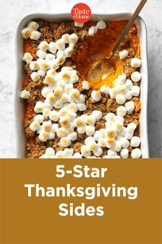 5-Star Thanksgiving Sides Thanksgiving Sides, Thanksgiving Recipes, Holiday Recipes, Creamed Peas, Candied Sweet Potatoes, Brown Betty, Beet Recipes, Baked Pork Chops, Holiday Side Dishes