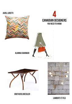 4 Canadian Designers you need to know via Paper Parade Co.