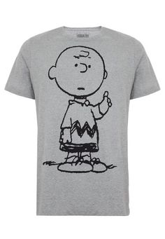 Camiseta DAFITI I.D. Snoopy Cinza - Compre Agora | Dafiti Brasil