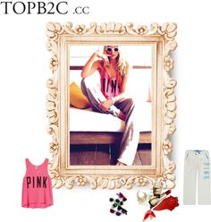 """""""Pink #1"""" by kitty-wasch on Polyvore"""