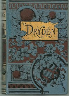 Beautiful book cover in teal (blue/ green) and brown with gold. Dryden.