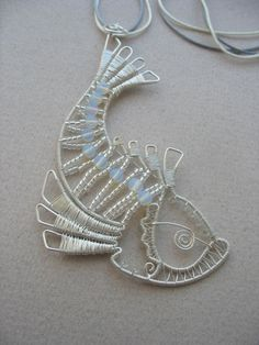Alevtinag in Scrapbook - whimsical fish pendant
