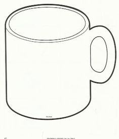 Hot Chocolate Mug Template Printable Sketch Coloring Page Winter Crafts For Kids, Winter Fun, Winter Theme, Hot Chocolate Art, Chocolate Crafts, Toddler Crafts, Preschool Crafts, Preschool Ideas, Mug Template