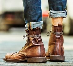 Two brown boots