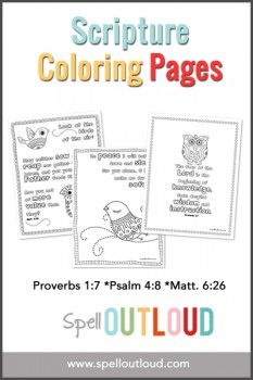Free scripture coloring pages!