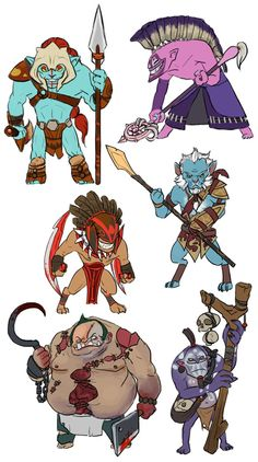 Dota 2 More mini Heroes by spidercandy