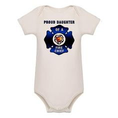 Fire Chiefs Daughter Organic Baby Bodysuit