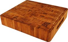 Amazon.com: Bamboo Cutting Board Butcher Block Slab - Thick Premium End Grain Bamboo with Non-Slip rubber feet.: Kitchen & Dining