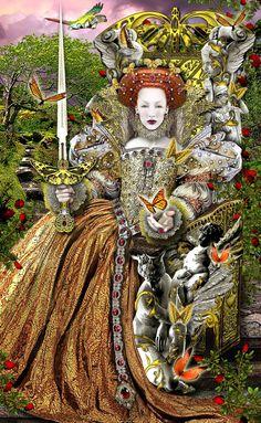 Queen of Swords ~ Tarot Illuminati deck by *Elric2012