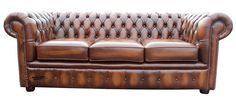 Brand New Chesterfield 3 Seater Sofa Settee Couch Antique Tan Real Leather #Designersofas4u #Chesterfield