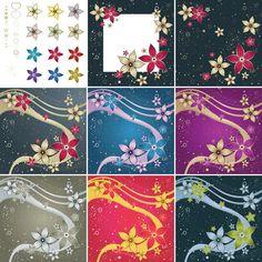Red Silk Flower DesignVector