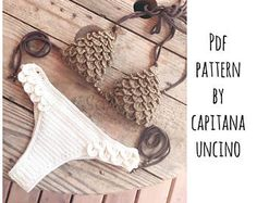 PDF Crochet PATTERN for Thaleia Crochet Bikini Top and