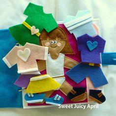 Página de libro tranquila muñeca de vestir