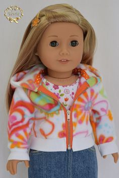"American girl doll clothes "" Hoodie """