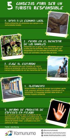 5 consejos para ser un turista responsable vía @komunumoweb #infografia #infographic #tourism