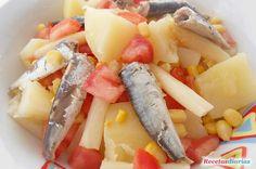 Spinach and sweet potato salad de ensalada de pollo en lata facil Salad With Sweet Potato, Potato Salad, Fruit Salad, Spinach, Fish, Meals, Recipes, Ideas Originales, Grilled Sweet Potatoes