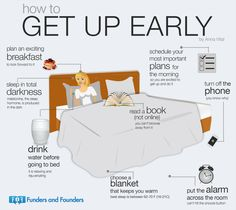 How to Get Up Early. [notes.fundersandfounders.com]