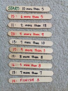 Like the popsicle sticks idea for the I Have Who Has game - much more durable than paper! -KK